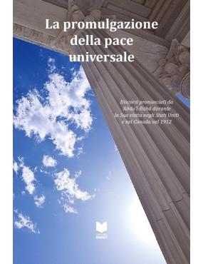 libro bahá'í La promulgazione della pace universale