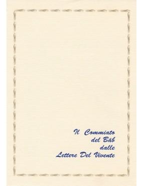 libro bahá'í Il commiato del Báb alle Lettere del Vivente