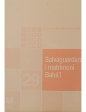 libro bahá'í Salvaguardare i matrimoni bahá'í