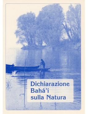 libro bahá'í Dichiarazione bahá'í sulla natura