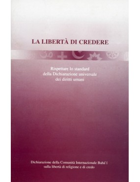 libro bahá'í La libertà di credere