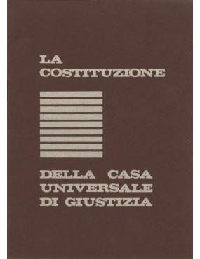 libro bahá'í La costituzione della Casa Universale di Giustizia