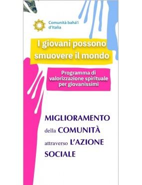 libro bahá'í Il miglioramento della comunità attraverso l'azione sociale. Ouscolo sui gruppi giovanissimi