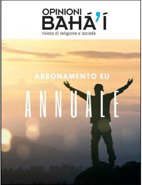 libro bahá'í Opinioni bahá'í abbonamento annuale eu