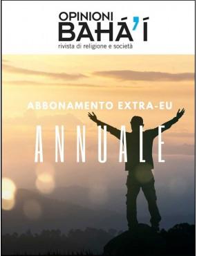 libro bahá'í Opinioni bahá'í abbonamento annuale extra-eu