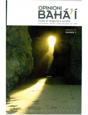 libro bahá'í Opinioni bahá'í 2013 primavera